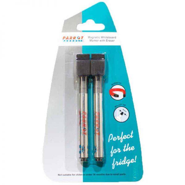 Marker Whiteboard Magnetic/Eraser Black (2 Pack)
